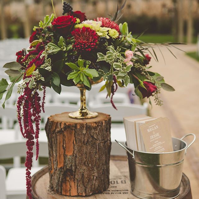 Programs anyone_  Combining rustic and elegant pieces _homesteadevents FLORAL_ _janetannsdesignandde
