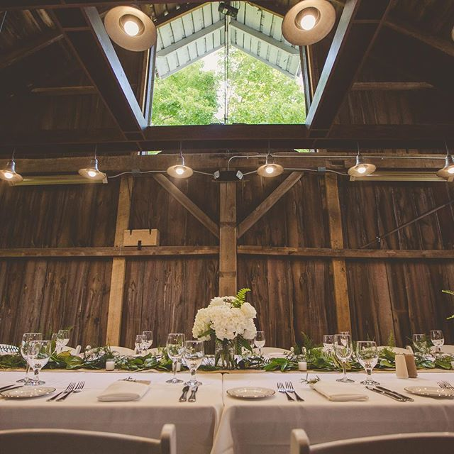 The loft space in this amazing rustic #barnwedding #venue is one of my favorite spaces to decorate!