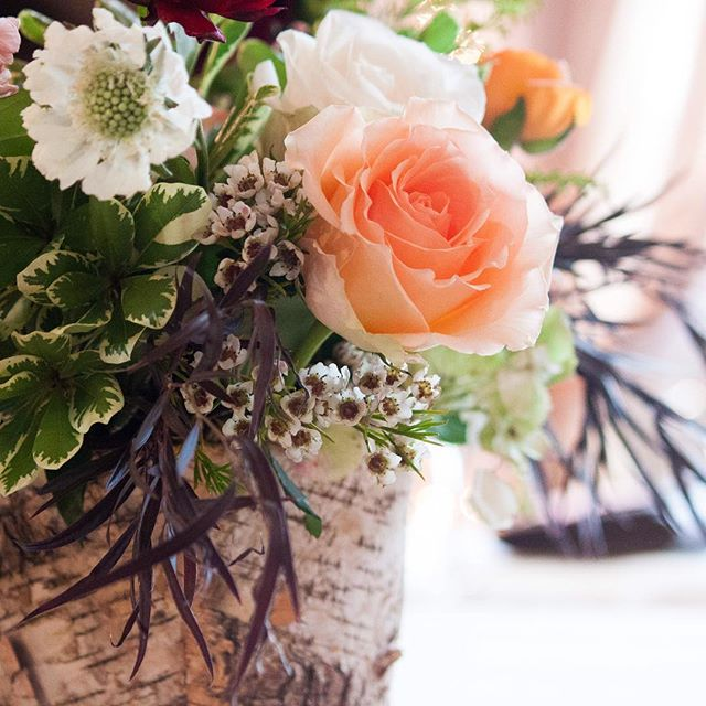 This floral centerpiece was one of my very favorites from this wedding season!  I have an orange cru