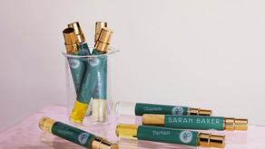 What inspired Sarah Baker Perfumes' new bottles?