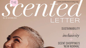 S.Baker in Perfume Society's The Scented Letter Magazine