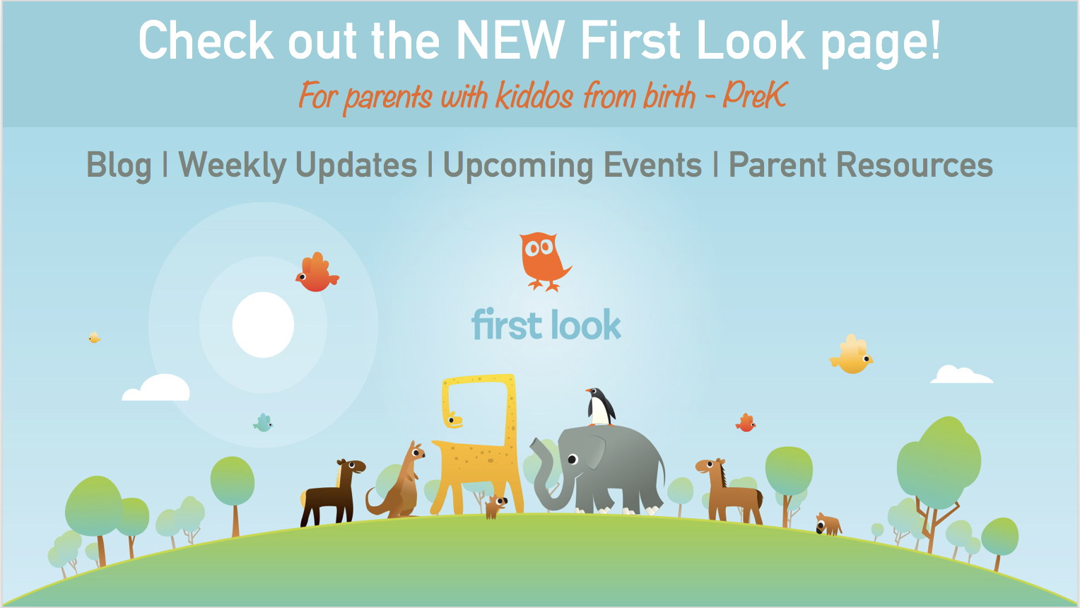 Visit the new First Look page!