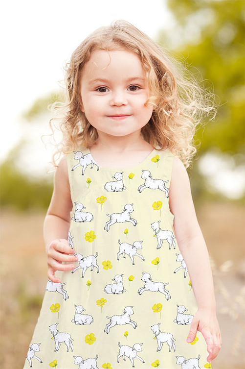 Lambs at Play - Fabric Design