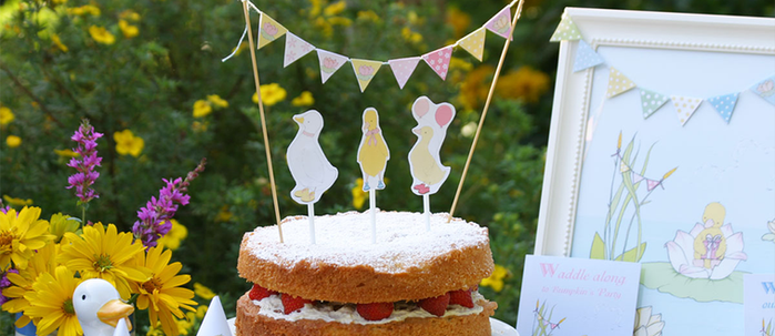 Little Duckling's Party - Cake Toppers