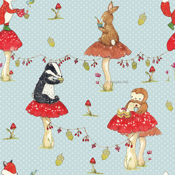 Woodland Tea Party - Surface Pattern Design
