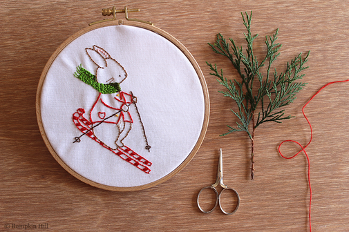 Bunny's Ski Time - Embroidery Pattern