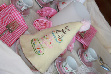 Friends for Tea Embroidery - Customer's Hat