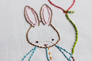 Some Bunny Loves You Embroidery Pattern