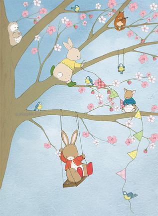 The Blossom Tree Party - Art Print