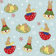 Tea Time in the Snow - Surface Pattern Design