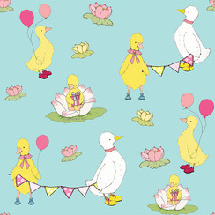 Little Duckling's Party - Surface Pattern Design