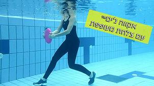 תרגילים בבריכה עם צלחת מעופפת