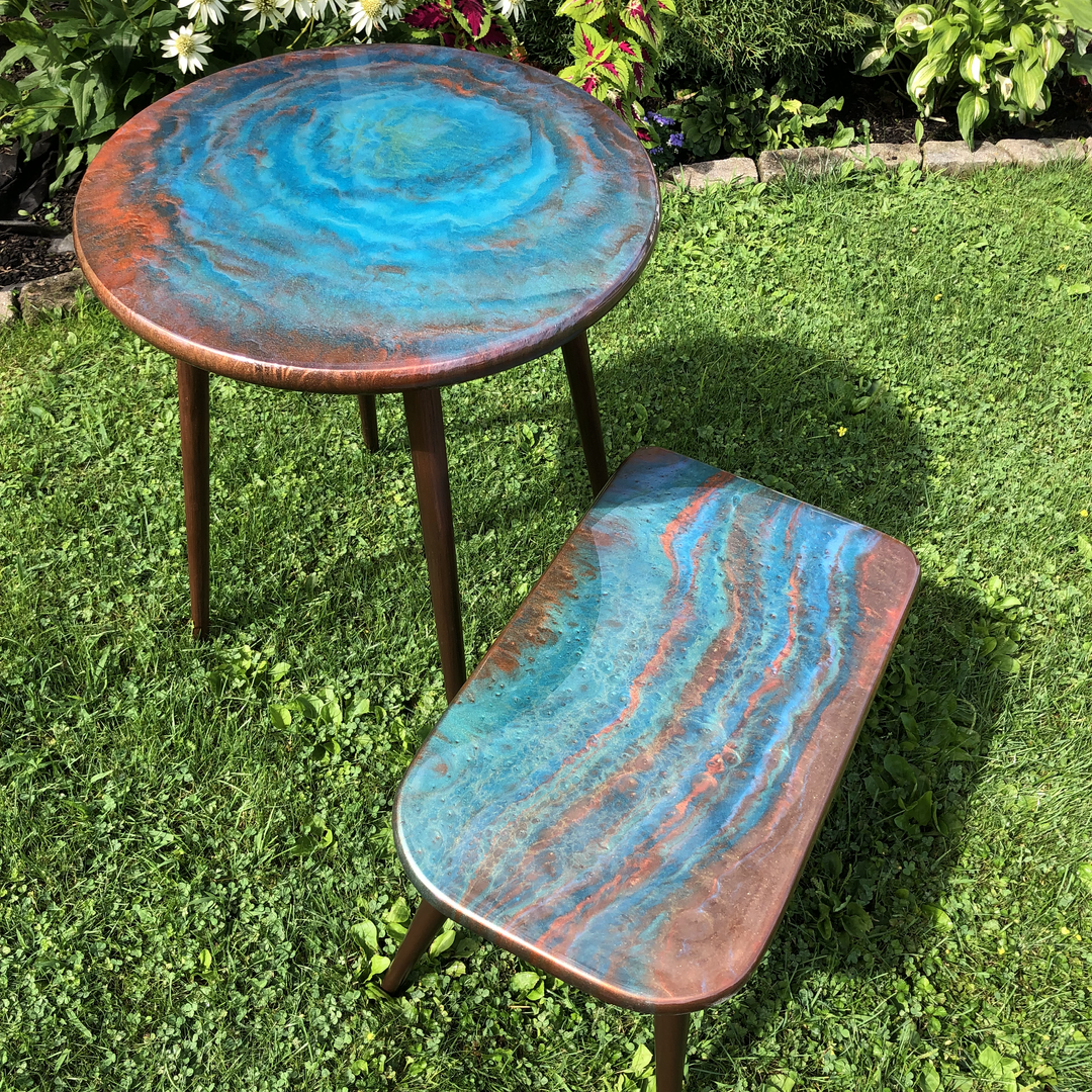 COOPER AND BLUE TABLES