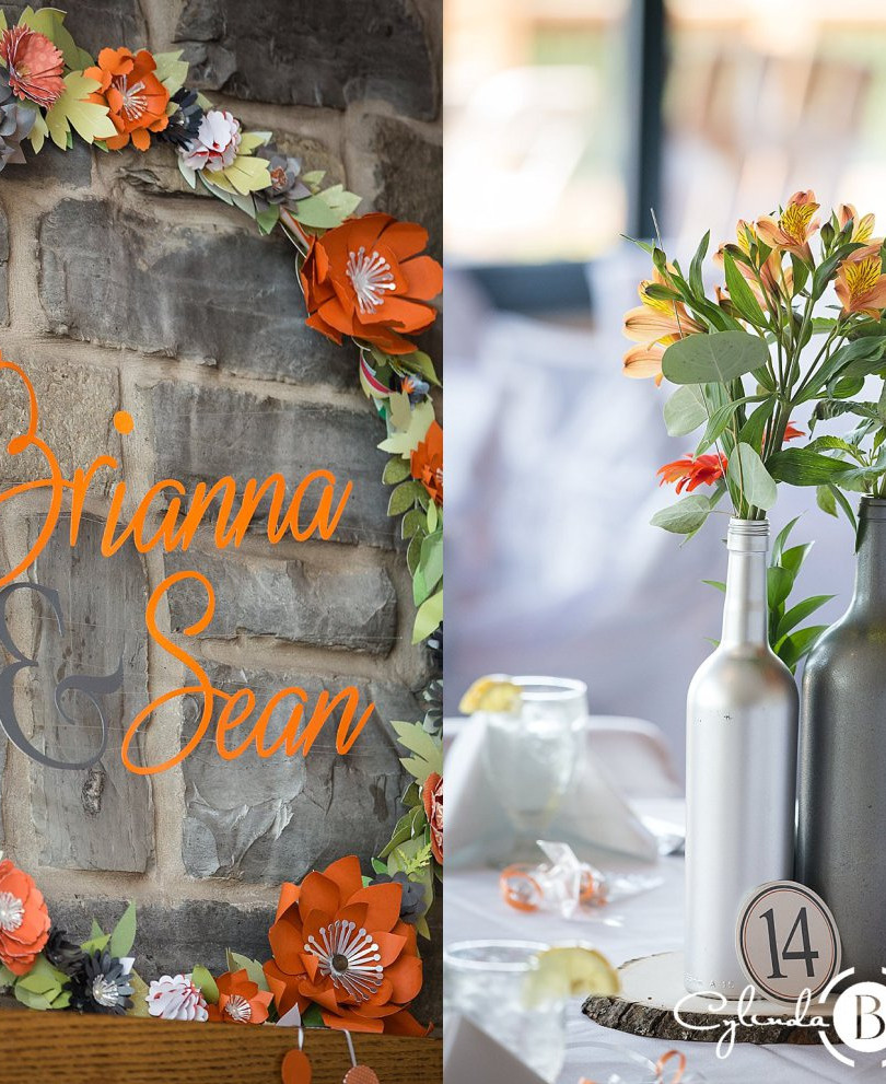 ORANGE & GRAY WEDDING