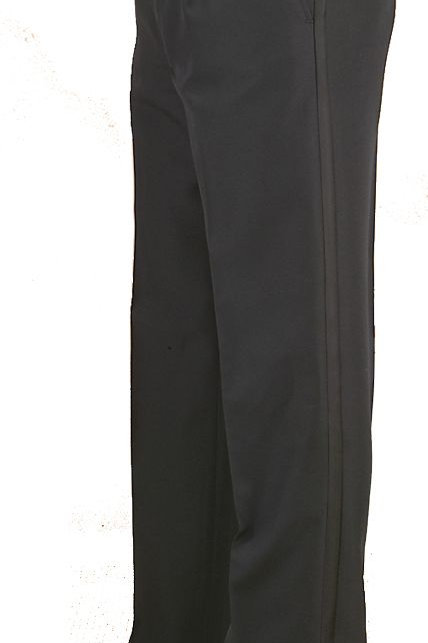 ADJUSTABLE WAIST TUXEDO PLEATED PANTS