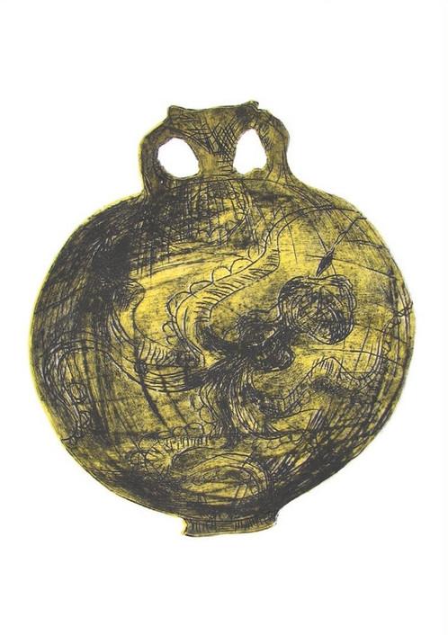 Yellow Octopus Vase