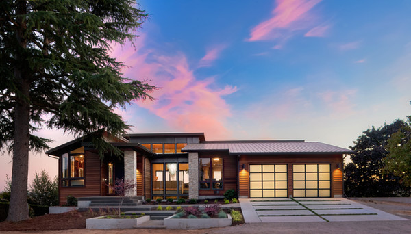 Luxury home with two  garage doors