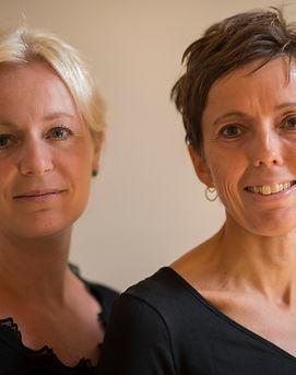 Pianist Kristine Thorup og journalist Inger Hørup Thorup