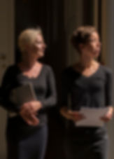 Pianist Kristine Thorup og journalist Inger Hørup Slot