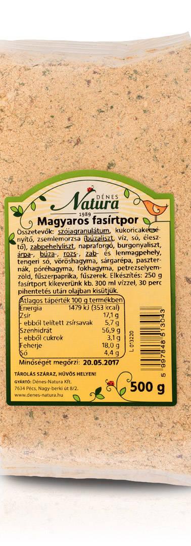 Magyaros fasirtpor 500 g