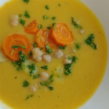 Mustáros csicseriborsó leves
