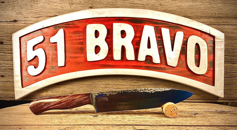 """8"""" Chefs Knife Hammered Finish"""