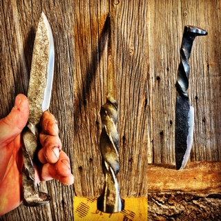 Railroad Spike Knife