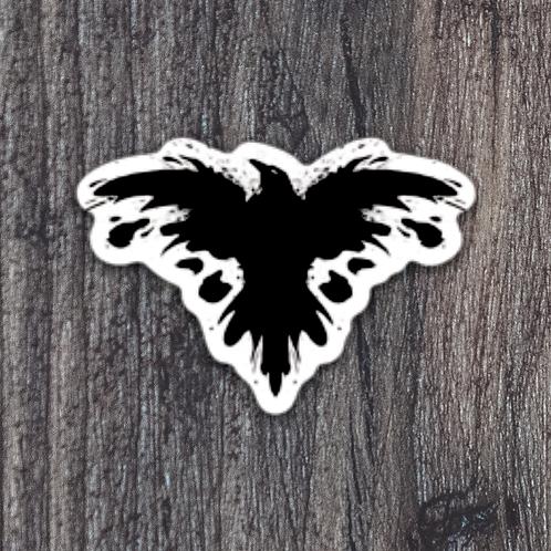 Ink Raven die cut sticker