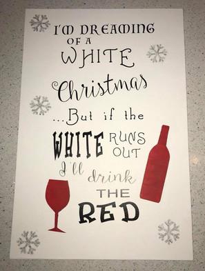 Christmas Wine Sign
