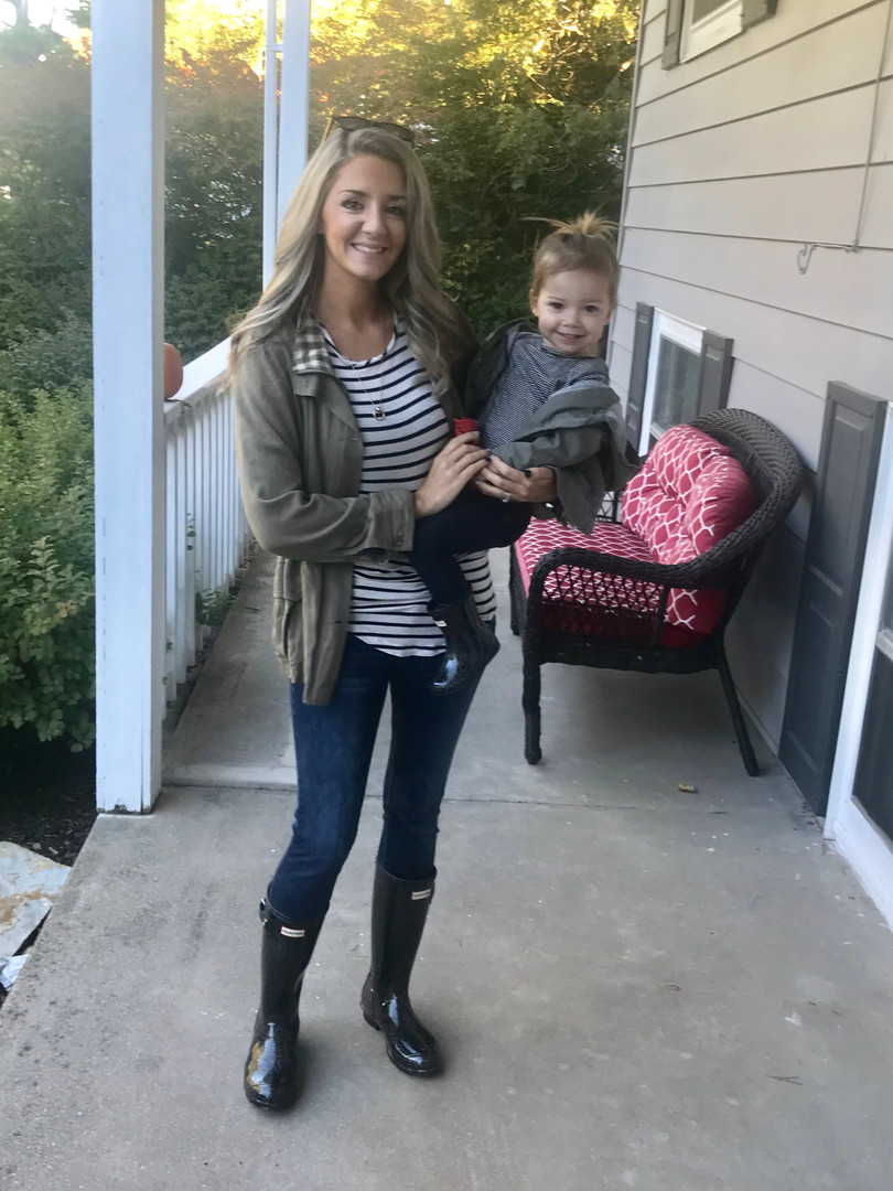 Coordinating outfits with my daughter is a favorite pasttime