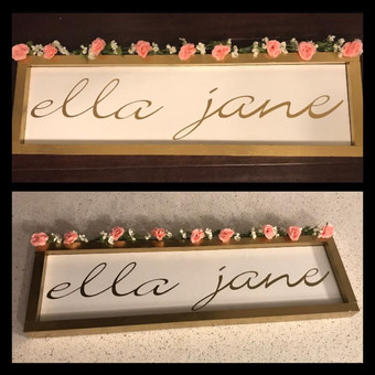 Hand Painted Name Frame
