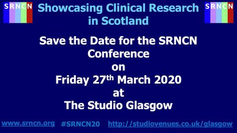Scottish Research Nurse & Coordinators Network (SRNCN) Conference 2021