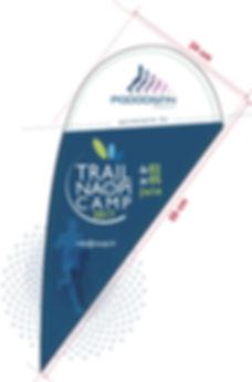 flag pour évènement Trail naopi camp