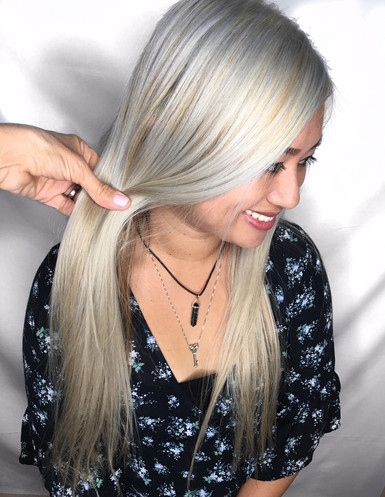 Silver Hair with Shadow Root