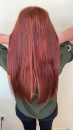 Red Hair Awesomeness! 2 rows Hand Tied Extensions