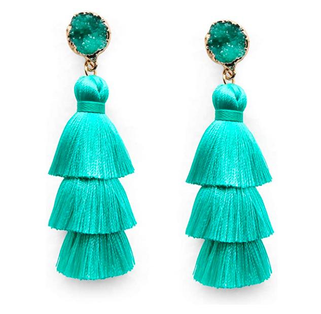 Turquiose Tasssel Earrings