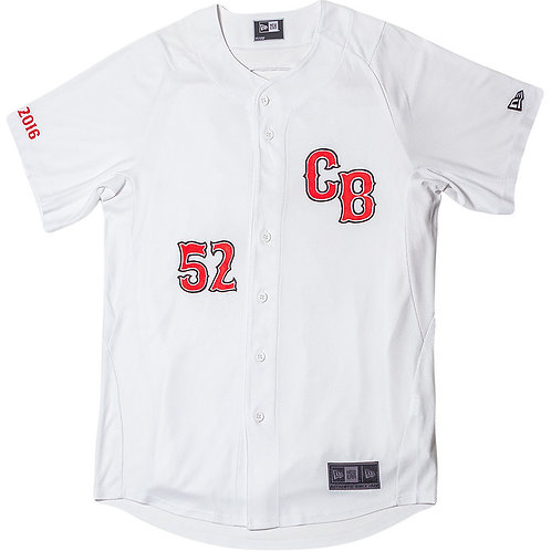 Chip Bully White & Red CB Baseball Jersey