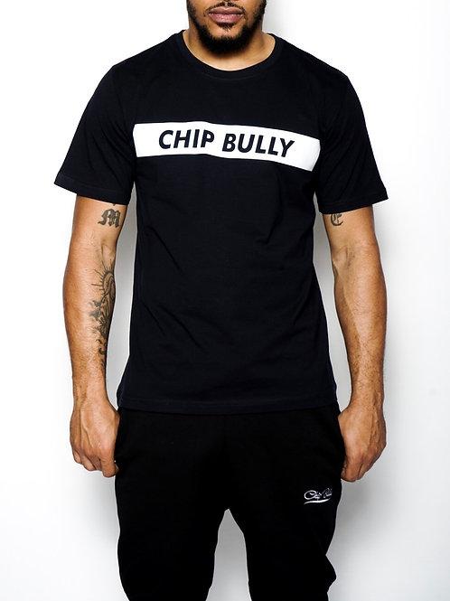 Chip Bully Tee Black Reflection Logo