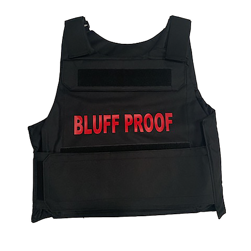 Chip Bully BLUFF PROOF Vest (Red Logo)
