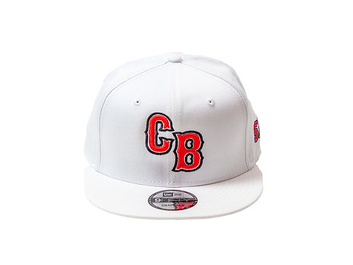 White Chip Bully Hat with Red CB Logo