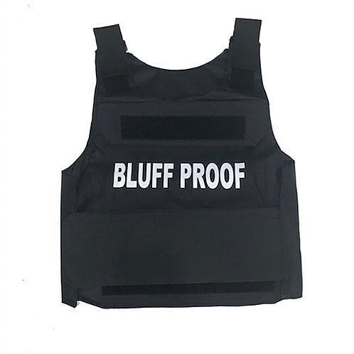 Chip Bully BLUFF PROOF Vest (White Logo)