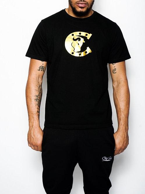 Chip Bully Tee Black Gold Logo