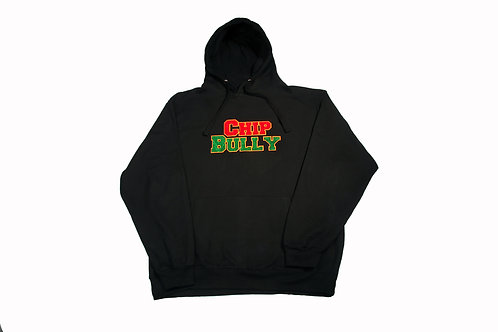Chip Bully Hoodie Black Red & Green Logo