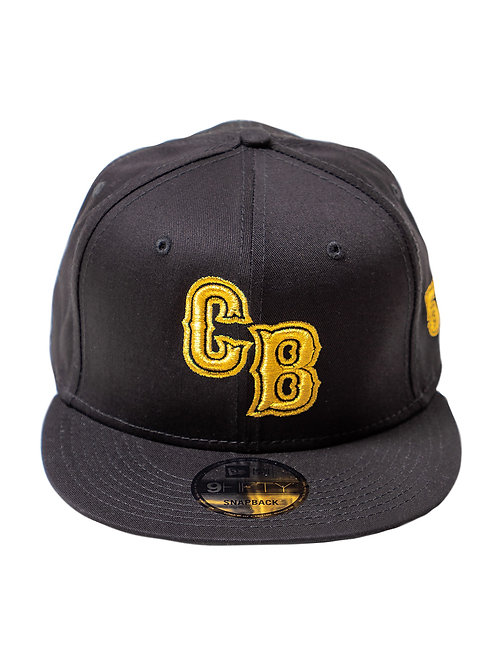 Black Chip Bully Hat with Yellow CB Logo