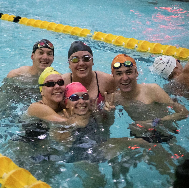Swim practice at the Rec