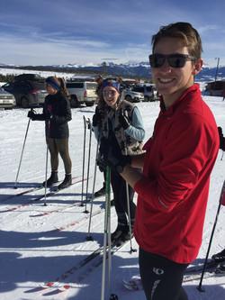 Team snowshoeing - WInter Park, CO