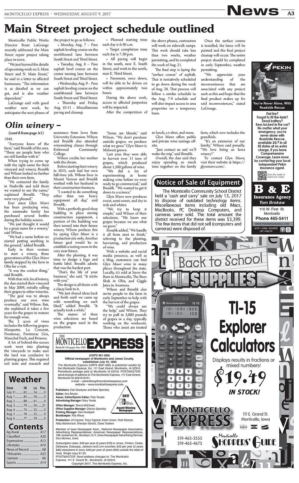 Monticello Express article page 2 jpg