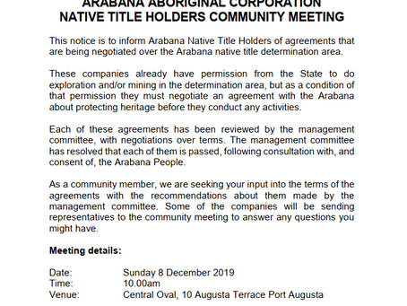 Native Title Holders Meeting