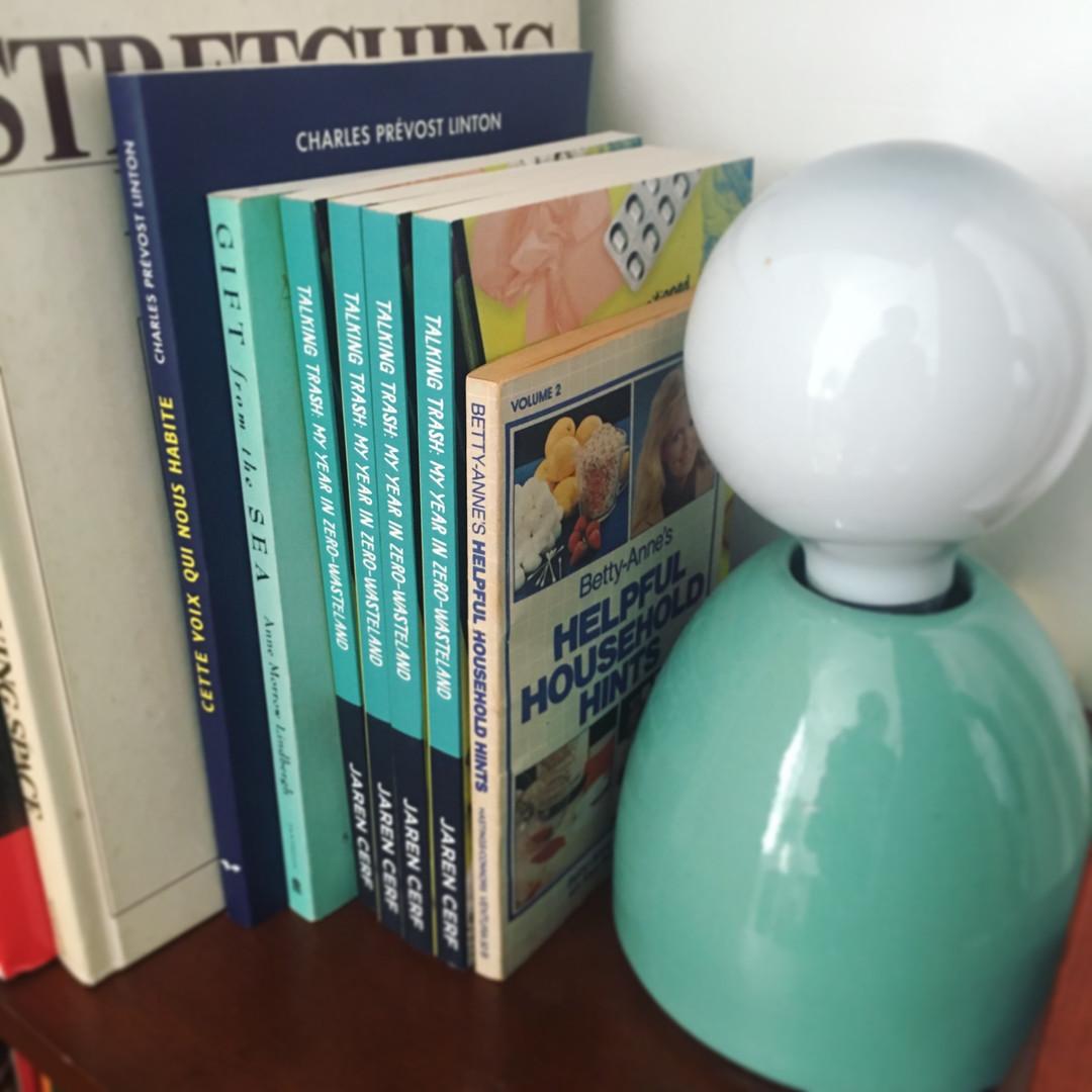 Talking Trash book shelf