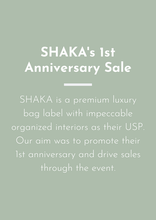 Driving sales for SHAKA's 1st anniversary campaign